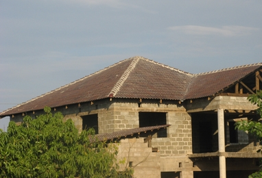 2 storey house using Zinitz concrete roofing tiles