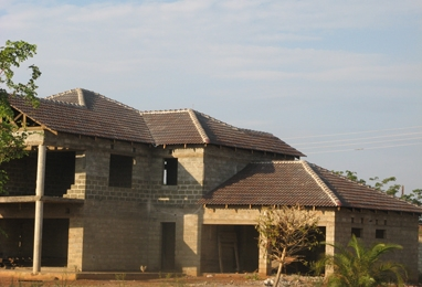 2 storey house using zinitz tiles